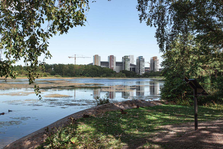 Arenastaden från Råstasjön