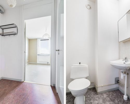 Hall/toalett uthyrningsdel