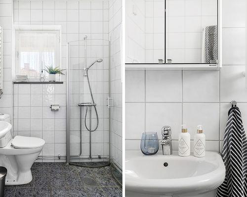 Golvvärme och fönster i badrummet
