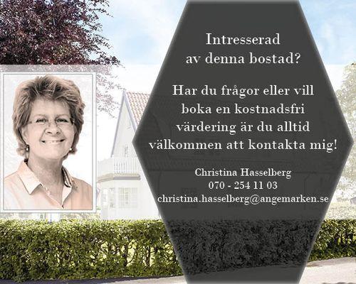 Christina Hasselberg din mäklare i Vejbystrand