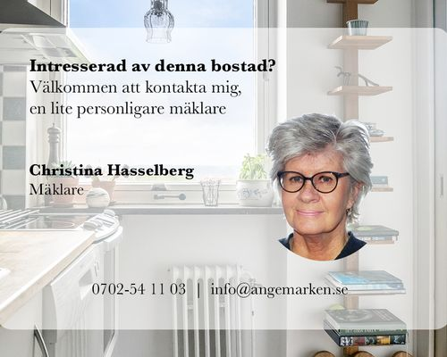 Christina Hasselberg din mäklare i Ängelholm