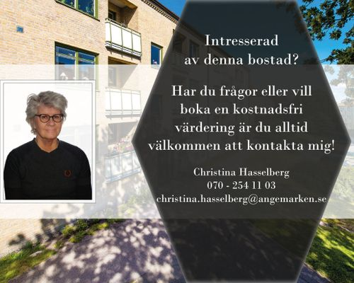 Christina Hasselberg din mäklare i centrala Göteborg sedan 1991