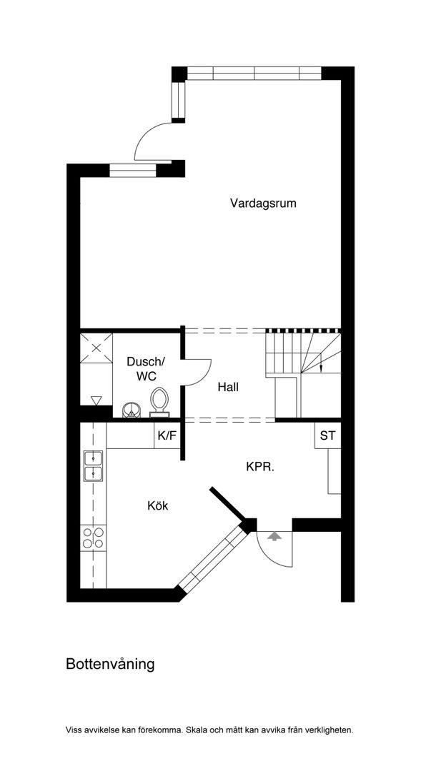 Planskiss Bottenvåning