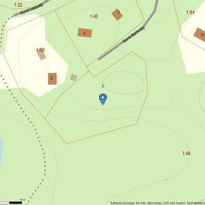 Fastighetskarta över den avstyckade fastigheten