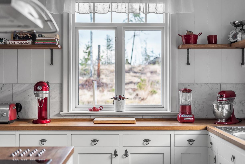 Lyxigt kök med full utrustning