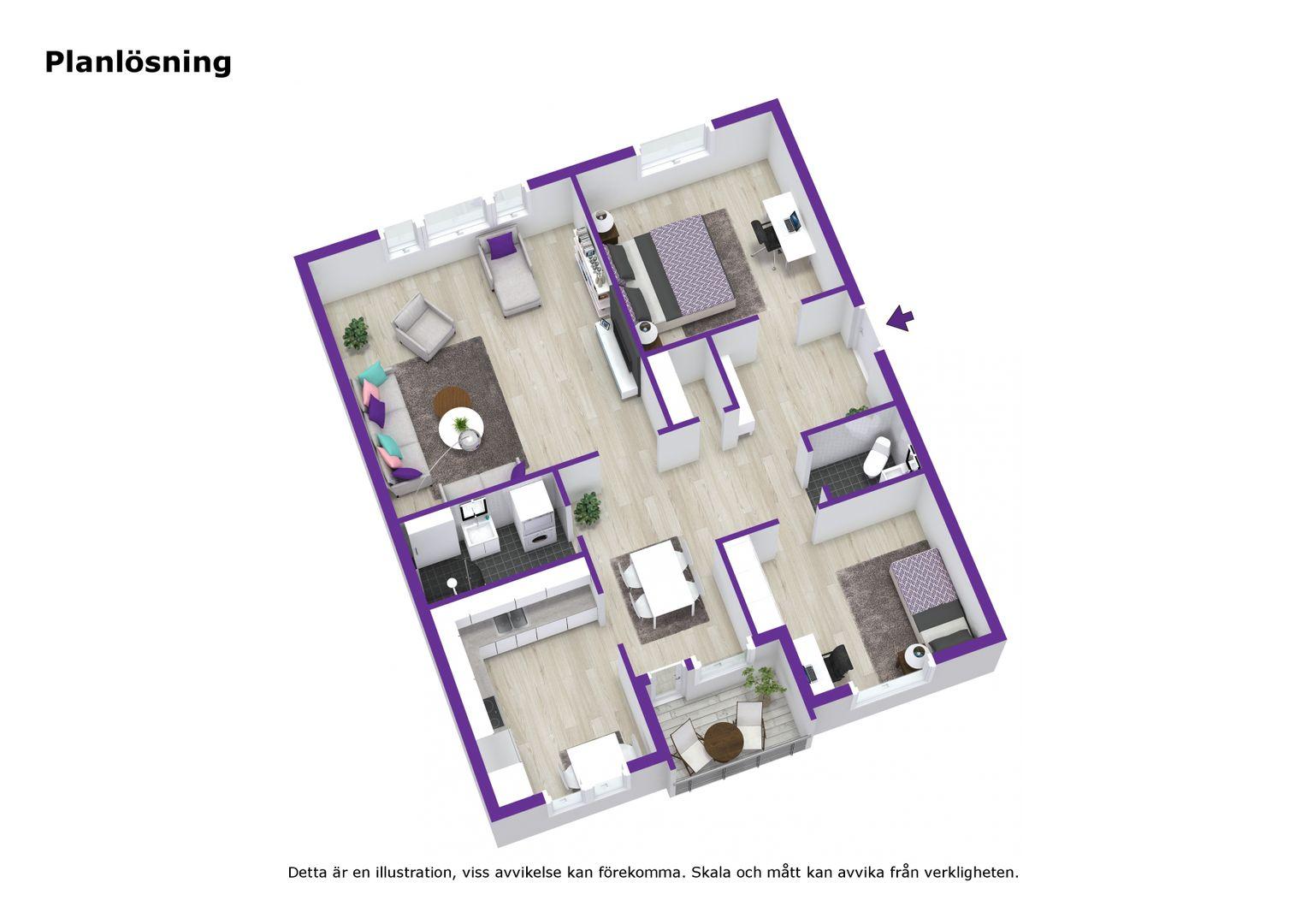 3D - Planlösning - Letterhead