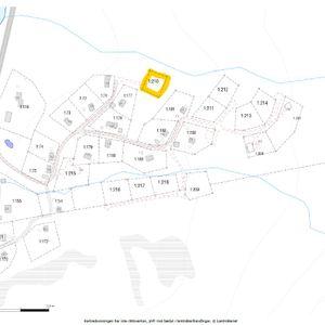 Fastighetskarta, 210 markerad