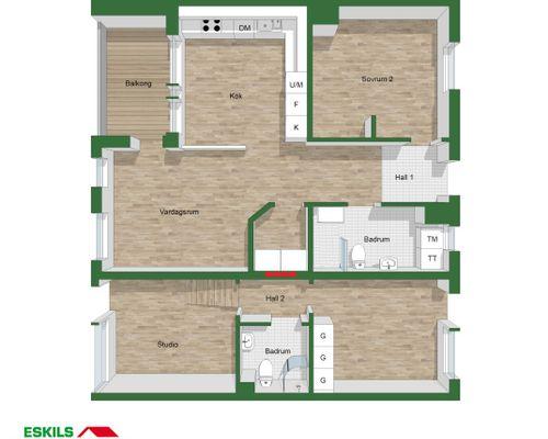 Planritning hela bostaden