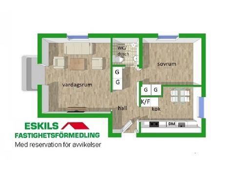 Planritning Heljestrandsgatan 9B lnr 8