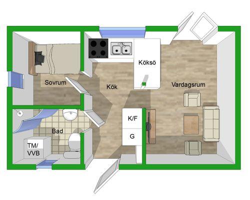 Planlösning nya huset