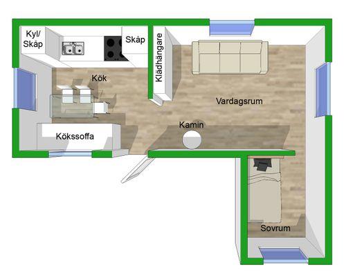 Planlösning äldre huset