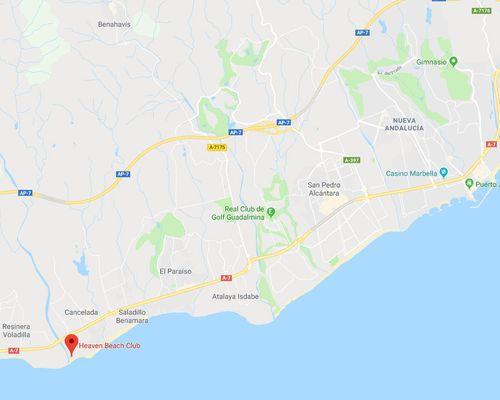 Karta Guadalmansa playa