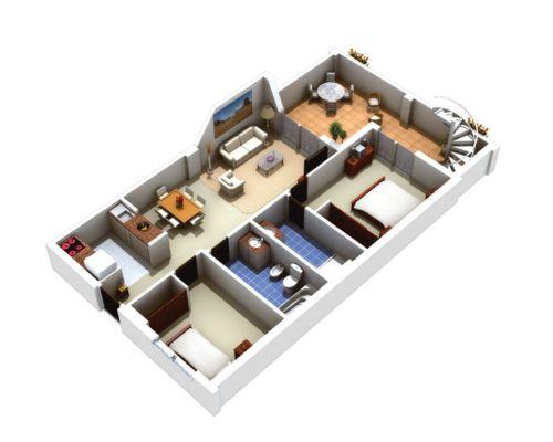 Planskiss takvåning, trappa till takterrass