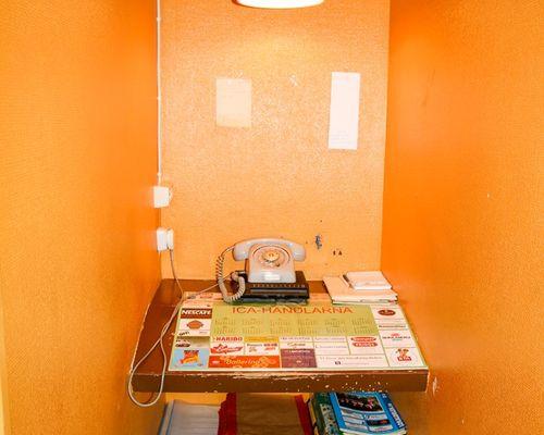 Gammal telefonbox