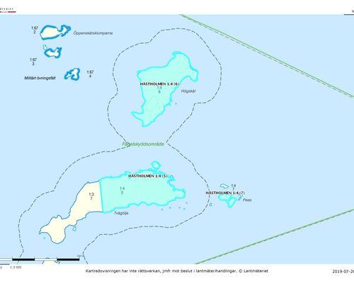 Översiktlig karta 3 - Karlskrona Hästholmen