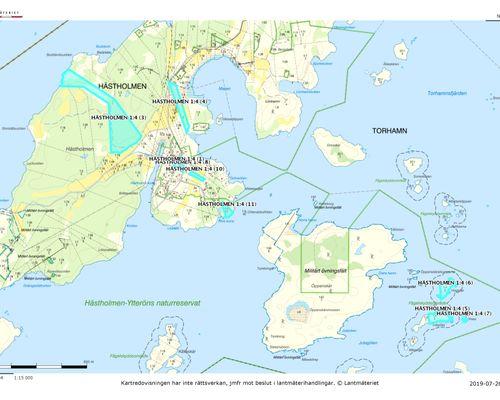 Översiktlig karta 1 - Karlskrona Hästholmen