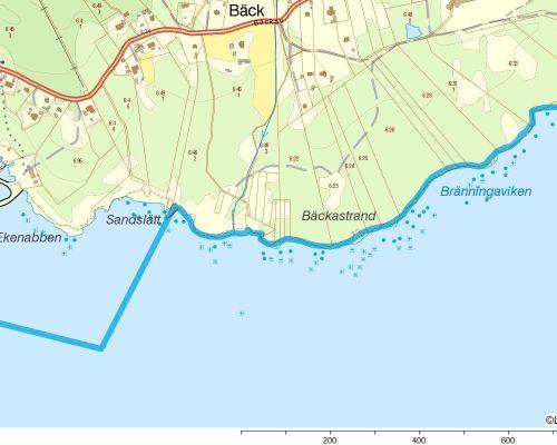 Områdeskarta med del 1
