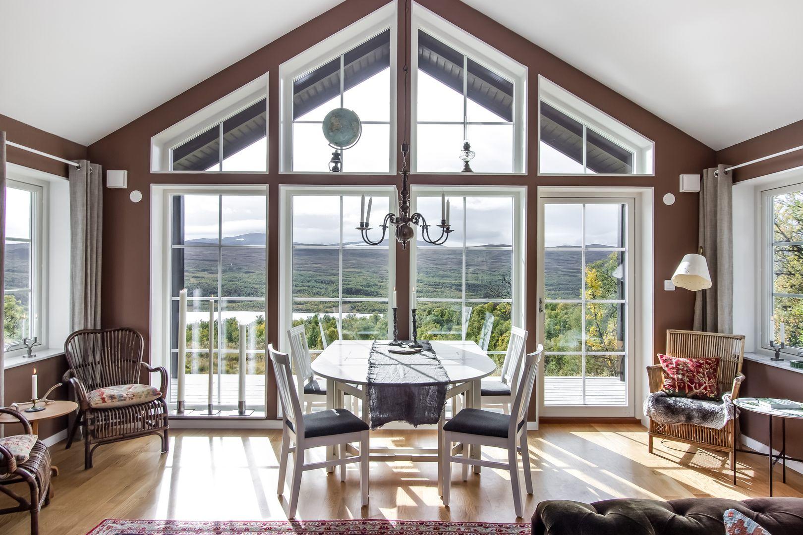 Vacker omgivning kräva stora fönsterpartier