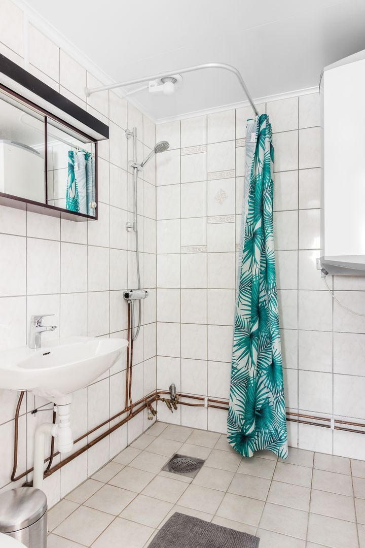 Rymligt badrum.