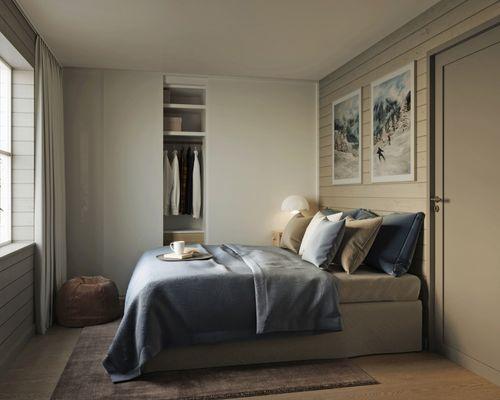 Sovrum i B-lägenhet