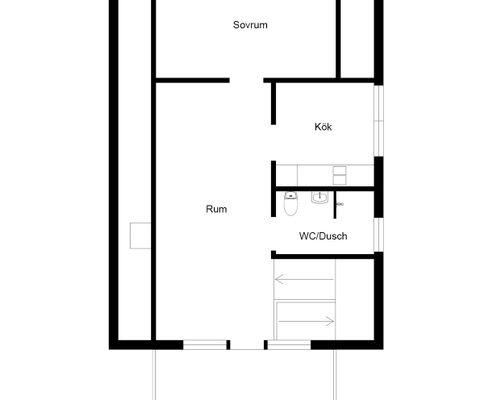 Övre plan lilla huset