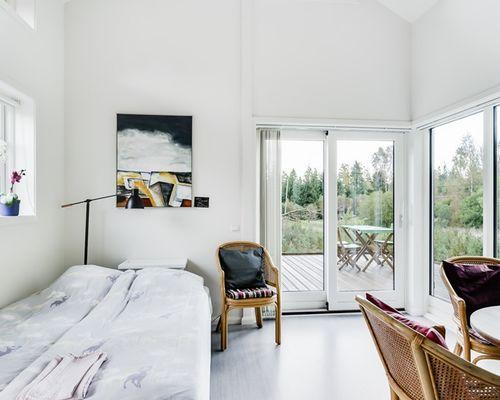 Stuga för uthyrning, allrum/sovrum